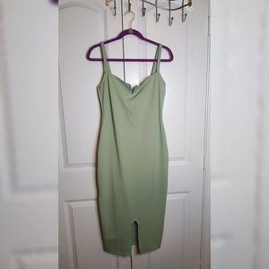 Boohoo mint green dress